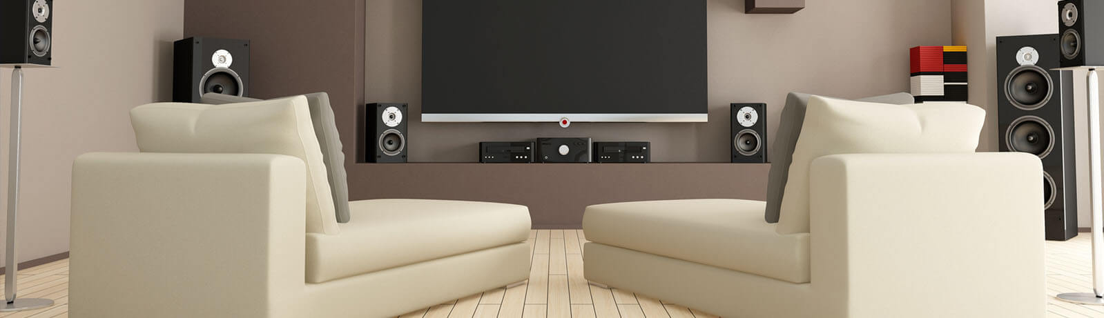 Enjoy the confort of your home with a nice theatre area